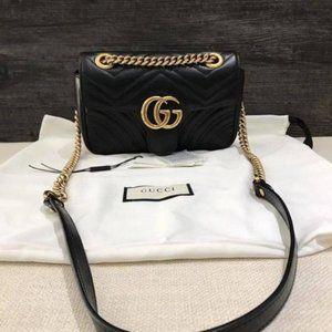 GG Marmont Small Black Chain bag